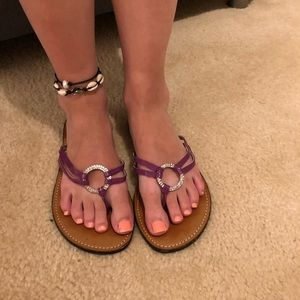 Mossimo Purple sandals with silver accent